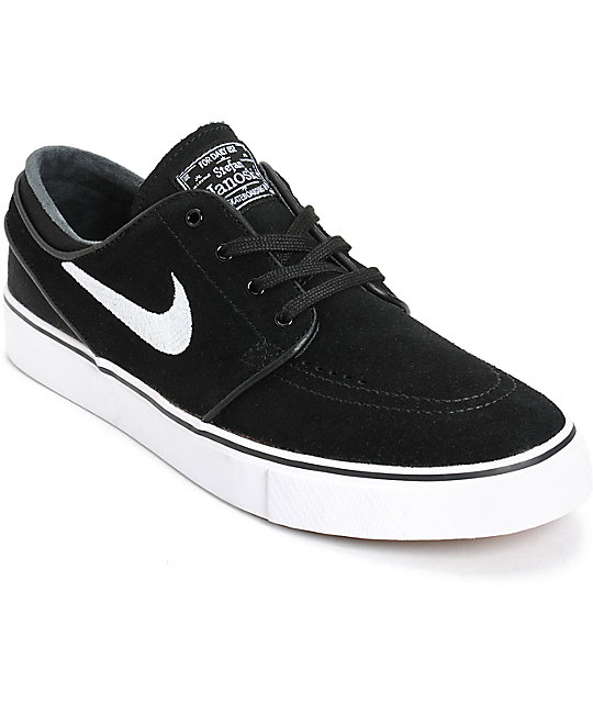 los angeles 9f7c1 58d20 Nike SB Zoom Stefan Janoski Black   White Skate Shoes   Zumiez
