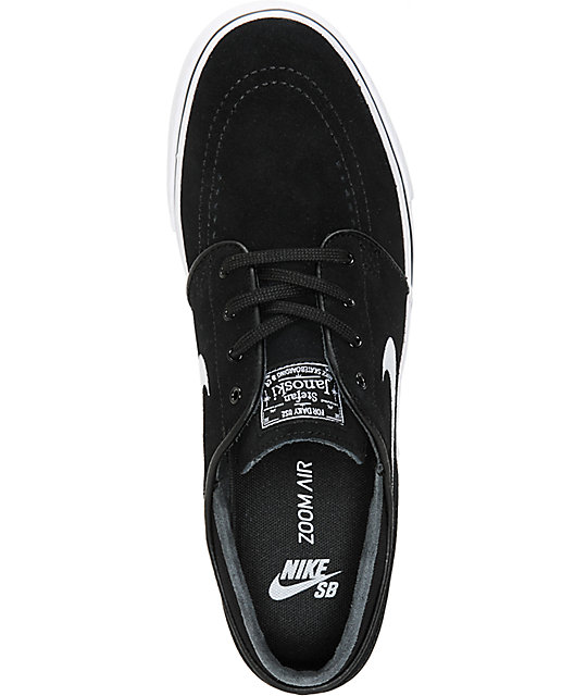 ... Nike SB Zoom Stefan Janoski Black & White Skate Shoes ...