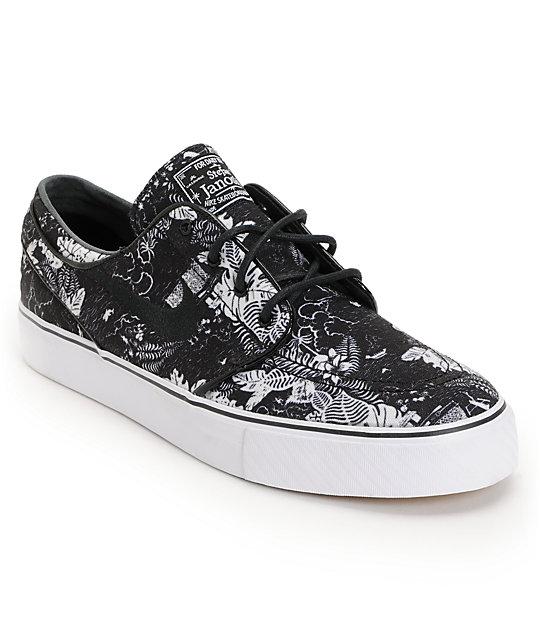 vende replicas 2019 mejor venta Nike SB Zoom Stefan Janoski Black Floral Sail Skate Shoes | Zumiez