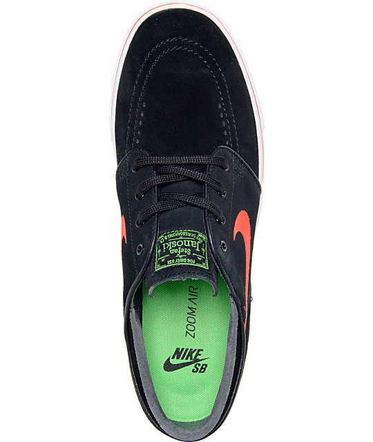 ... Nike SB Zoom Stefan Janoski Black and Crimson Suede Skate Shoes ... 78709f8a419