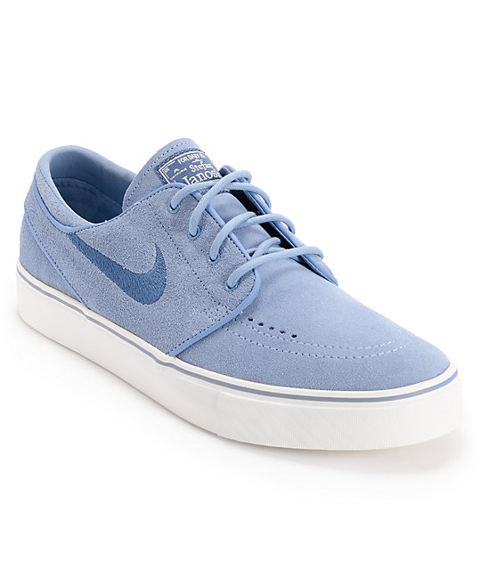 outlet store ad451 4823f Nike SB Zoom Stefan Janoski Blue   Sail Suede Shoes   Zumiez