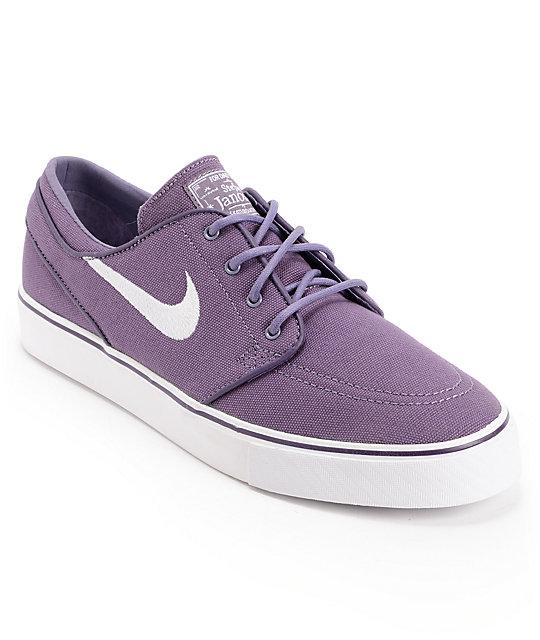 Cena fabryczna zamówienie online renomowana strona Nike SB Zoom Stefan Janoski Canyon Purple & White Canvas Shoes