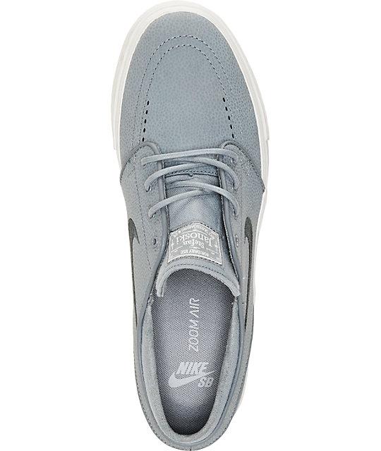 separation shoes 9e3ea f163e ... Nike SB Zoom Stefan Janoski Cool Grey   Anthracite Leather Skate Shoes  ...