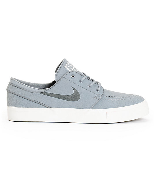 separation shoes f4f11 aebd1 ... Nike SB Zoom Stefan Janoski Cool Grey   Anthracite Leather Skate Shoes