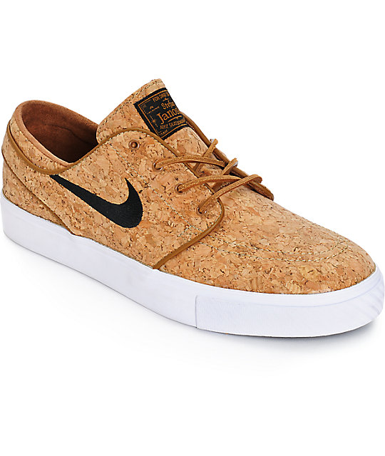 Nike SB Zoom Stefan Janoski Cork Elite Ale Brown Skate Shoes ...