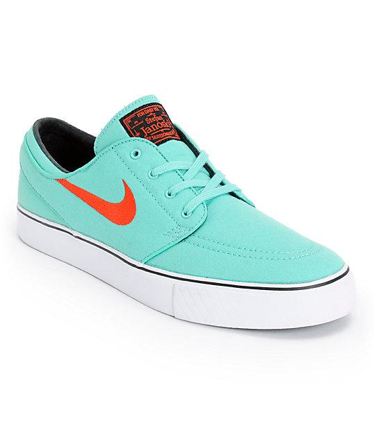 75aa19a488ce Nike SB Zoom Stefan Janoski Crystal Mint   Light Crimson Skate Shoes ...