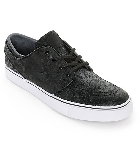 reputable site f3006 a836c Nike SB Zoom Stefan Janoski Elite Embossed Skate Shoes   Zumiez