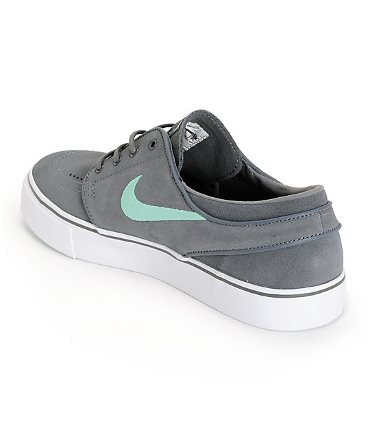 info for 24f02 f2cb3 ... Nike SB Zoom Stefan Janoski Grey  Medium Mint Skate Shoes ...