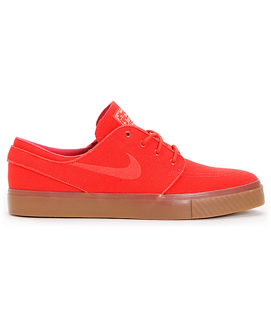 Nike SB Zoom Stefan Janoski Hyper Red Sail Canvas Shoes