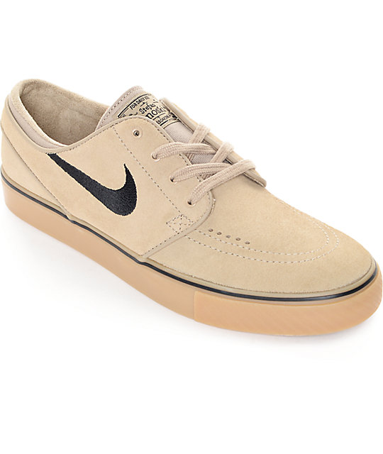 separation shoes 37102 af667 Nike SB Zoom Stefan Janoski Khaki, Black,   Gum Skate Shoes   Zumiez.ca