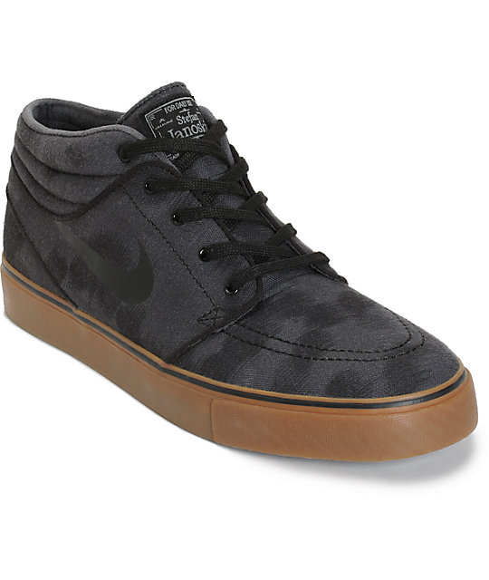 separation shoes e0dfc 069c3 Nike SB Zoom Stefan Janoski Mid Anthracite, Black, & Gum Skate Shoes |  Zumiez