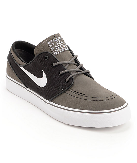 Nike SB Zoom Stefan Janoski Midnight Fog, Black, & White Skate Shoes