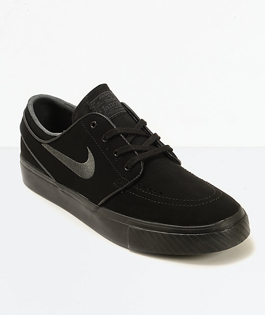 best website 733d1 fe2c8 Nike SB Zoom Stefan Janoski Mono Black   Anthracite Skate Shoes   Zumiez