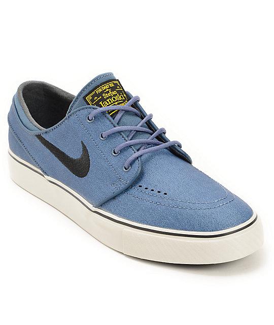 more photos e5b16 42a31 Nike SB Zoom Stefan Janoski New Slate, Black,   Varsity Maize Leather Shoes    Zumiez