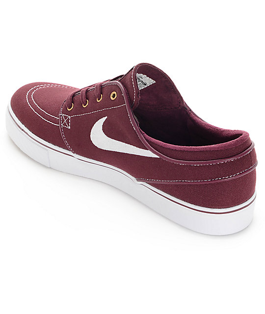 ... Nike SB Zoom Stefan Janoski Night Maroon   White Canvas Skate Shoes ... 414db2be8