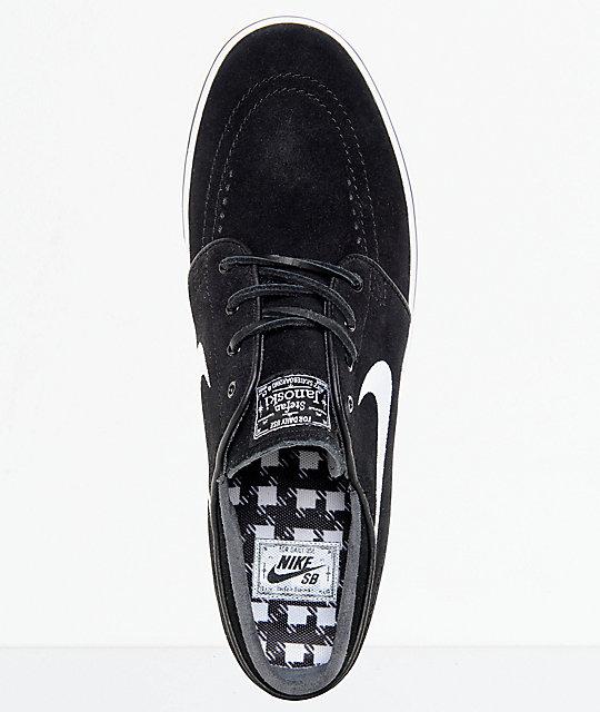 online store 63140 773ce ... Nike SB Zoom Stefan Janoski OG Black   White Skate Shoes ...