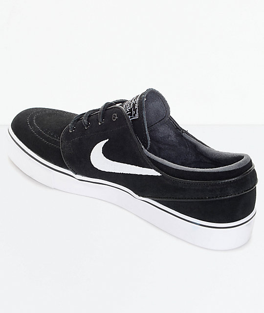 cd700d636bb7 ... Nike SB Zoom Stefan Janoski OG Black   White Skate Shoes ...