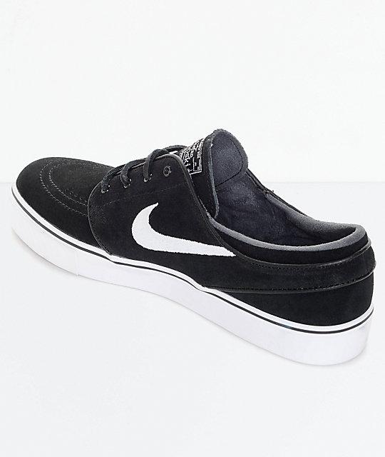fdb36f783be1c ... Nike SB Zoom Stefan Janoski OG Black   White Skate Shoes ...