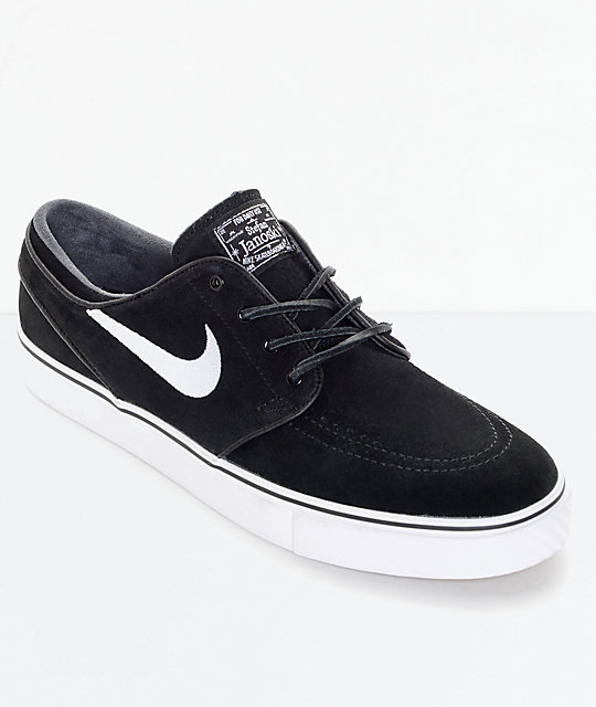 Nike SB Zoom Stefan Janoski OG Black & White Skate Shoes ...