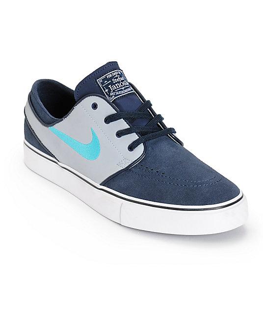 Nike SB Zoom Stefan Janoski Obsidian & Cactus Skate Shoes ...