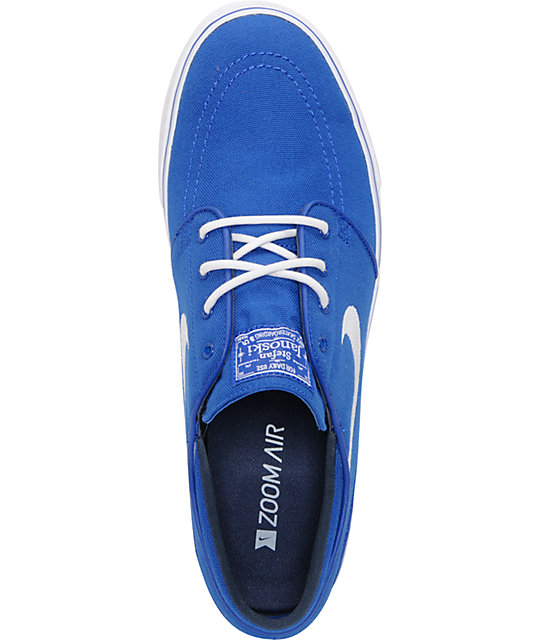 Nike SB Zoom Stefan Janoski Old Royal Blue & White Canvas Shoes