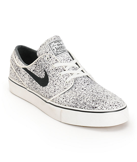 sports shoes 87f66 69f7c Nike SB Zoom Stefan Janoski PR Ivory   Black Speckle Skate Shoes   Zumiez
