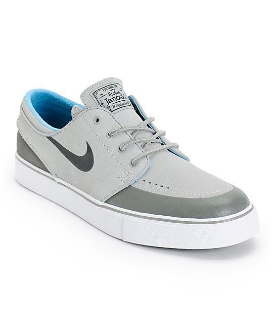 Nike SB Zoom Stefan Janoski PR SE Grey & Black Skate Shoes ...