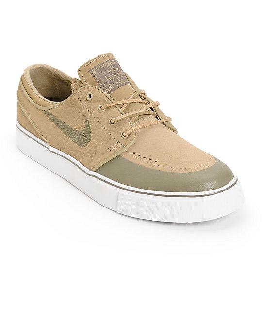 Nike SB Zoom Stefan Janoski PR SE Khaki   Smoke Skate Shoes  00b6051b7f44