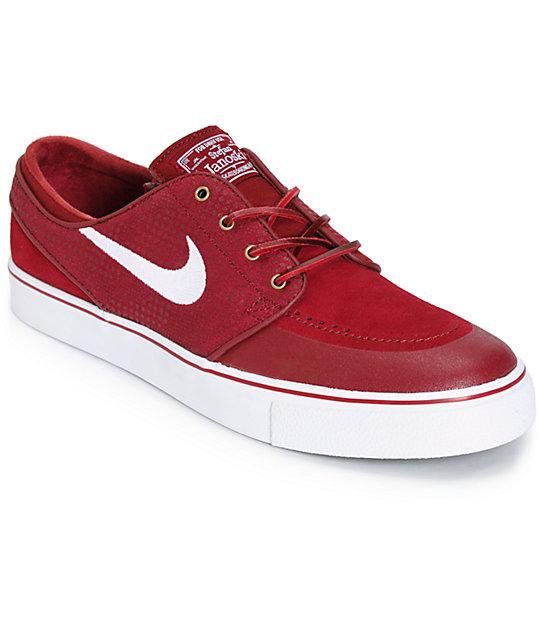 Nike SB Zoom Stefan Janoski PR SE Team Red Skate Shoes ...