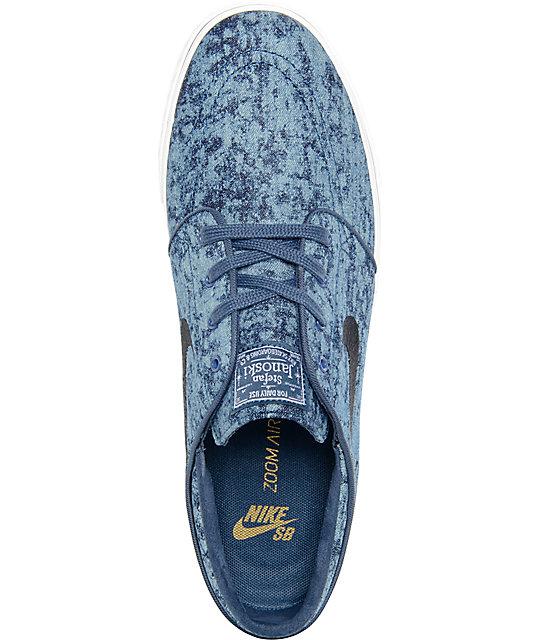 00fb9cb9de34 ... Nike SB Zoom Stefan Janoski Premium Squadron Blue   White Skate Shoes  ...