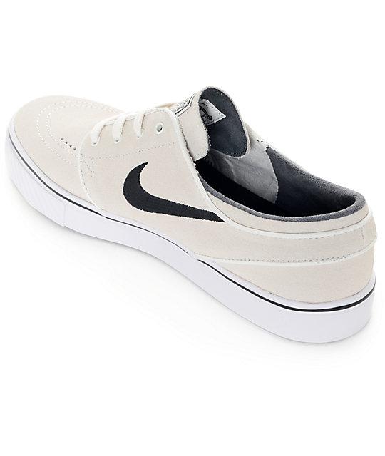 4931b334cecd ... Nike SB Zoom Stefan Janoski Summit White and Black Skate Shoes