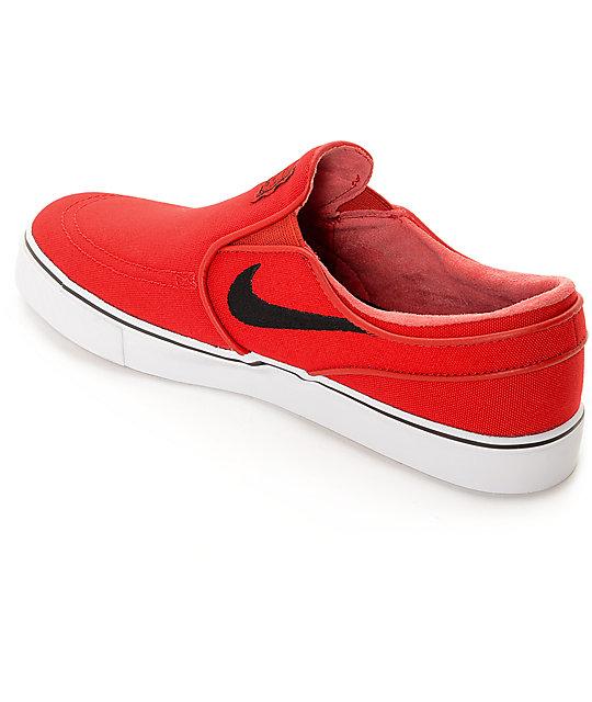 official photos f4f8c 1f25e ... Nike SB Zoom Stefan Janoski University Red Slip-On Skate Shoes ...