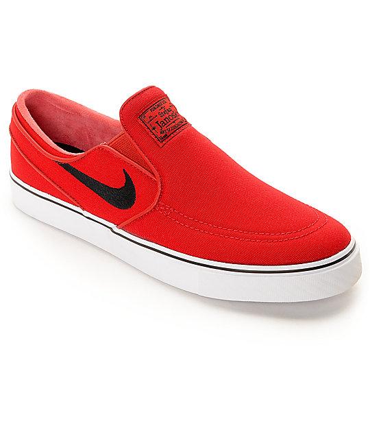 seleccione para oficial 60% de liquidación grande descuento venta Nike SB Zoom Stefan Janoski University zapatos de skate rojos sin cordones