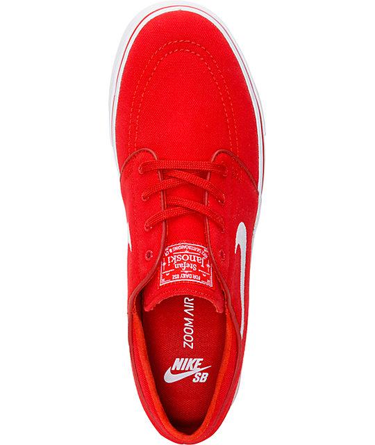 ... Nike SB Zoom Stefan Janoski Varsity Red   White Canvas Skate Shoes ... 1a97b90964