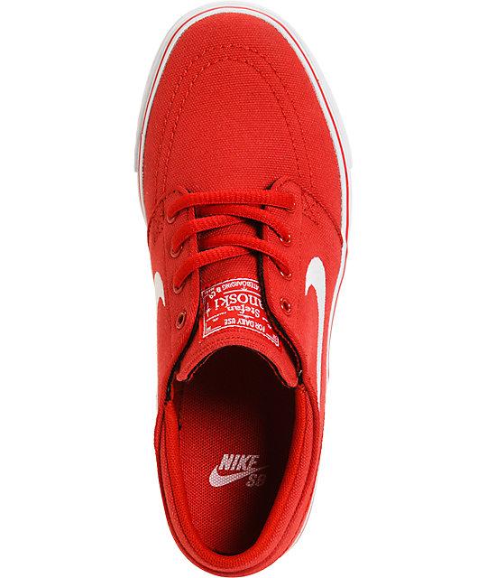 the best attitude 89a7e 8235f ... Nike SB Zoom Stefan Janoski Varsity Red   White Kids Skate Shoes ...