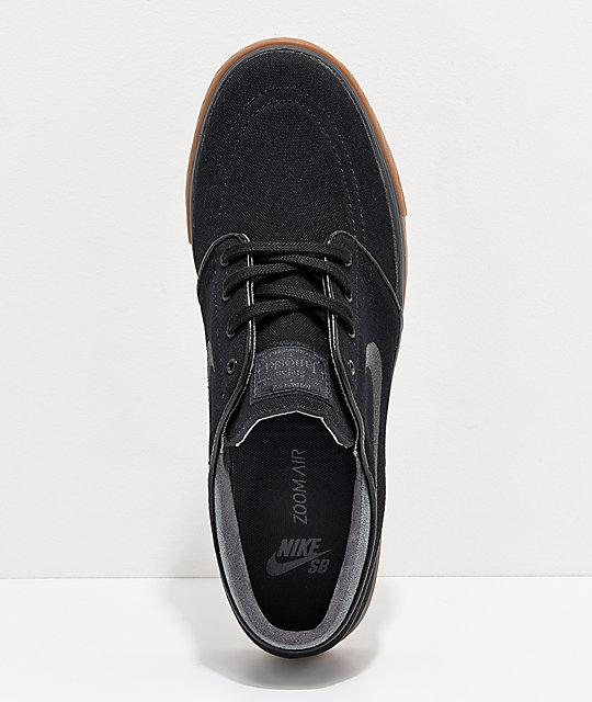 new product f96ef fba1f ... Nike SB Zoom Stefan Janoski zapatos de lona en negro y goma ...