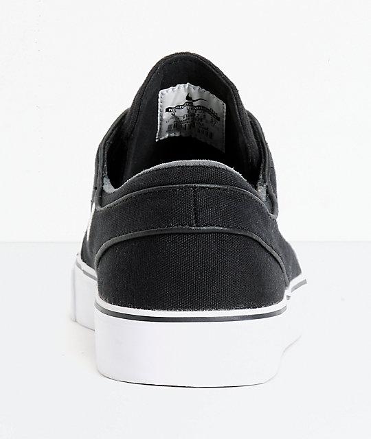 release date: 8881a 88320 ... Nike SB Zoom Stefan Janoski zapatos de skate de lona en blanco y negro  ...