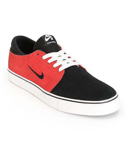 515cb6f9376d Nike SB Zoom Team Edition Black   Gym Red Skate Shoes
