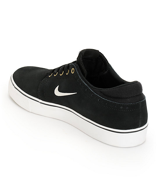 Nike SB Zoom Team Edition Black & White Skate Shoes