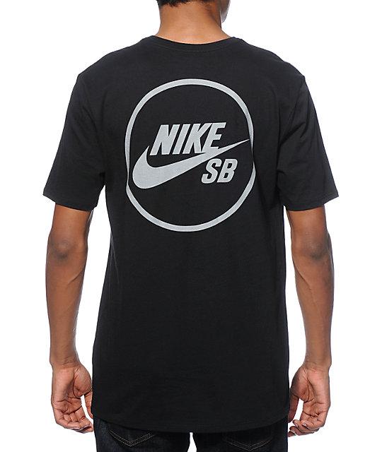 Camiseta Nike Sb Dry Skyscrpr Df Negro Blanco Hombre Outlet 5e0cd3e729d8a