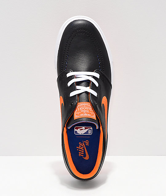 c023bc68b ... Nike SB x NBA Janoski Black   Orange Skate Shoes ...
