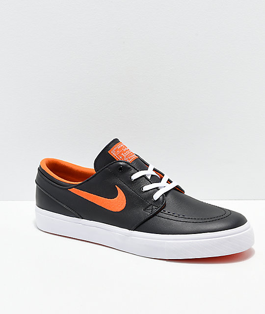 ca199cd24 Nike SB x NBA Janoski Black   Orange Skate Shoes