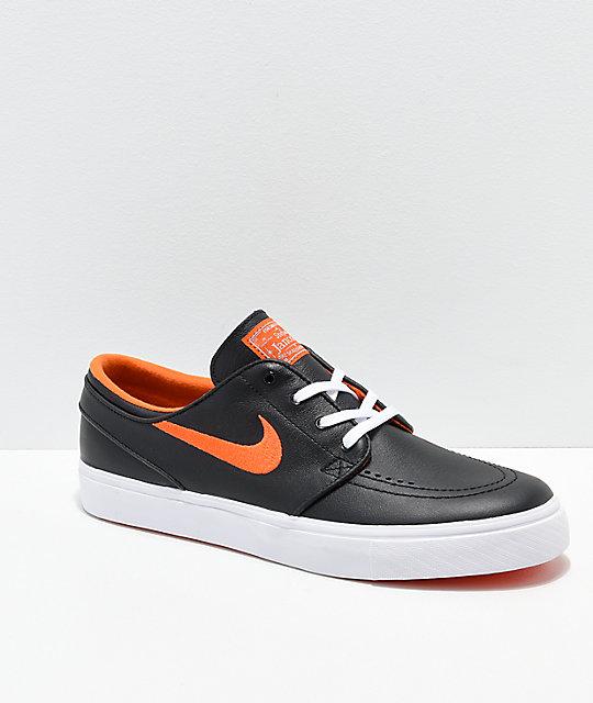 Nike SB x NBA Janoski Black \u0026 Orange Skate Shoes | Zumiez