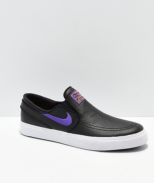1ae03d56d Nike SB x NBA Janoski Black   Purple Slip-On Skate Shoes