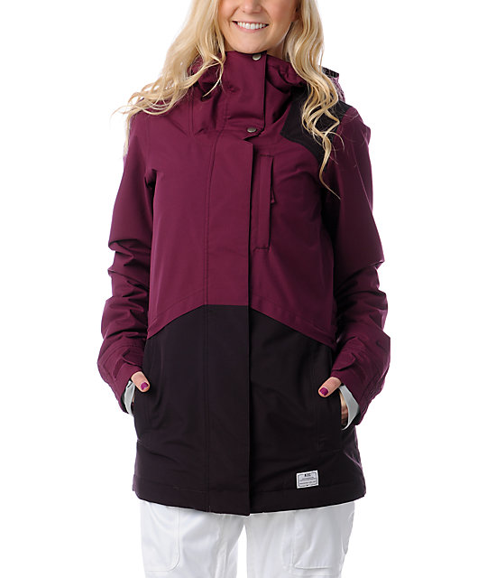 Nike Swick Berry   Burgundy 10K Snowboard Jacket  6184eaa6e