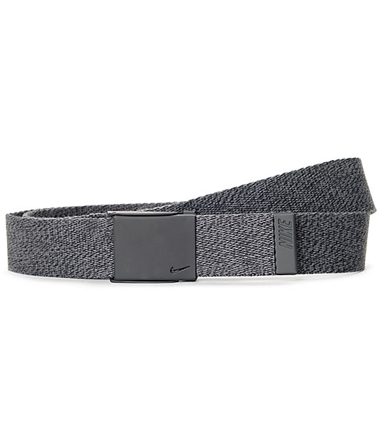 Nike Tech Essentials Heather Black Web Belt