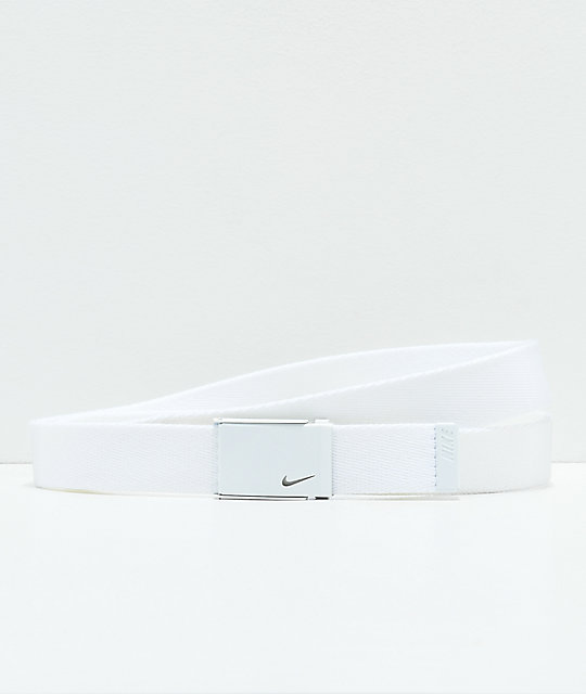 Nike Tech Essentials White Web Belt