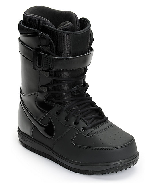 All Black Nike Snowboard Boots Zoom Force 1 trhsQdCx