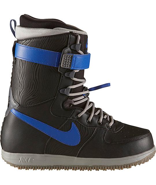 909b0ac1d92 Nike Zoom Force 1 Black & Grey Snowboard Boots