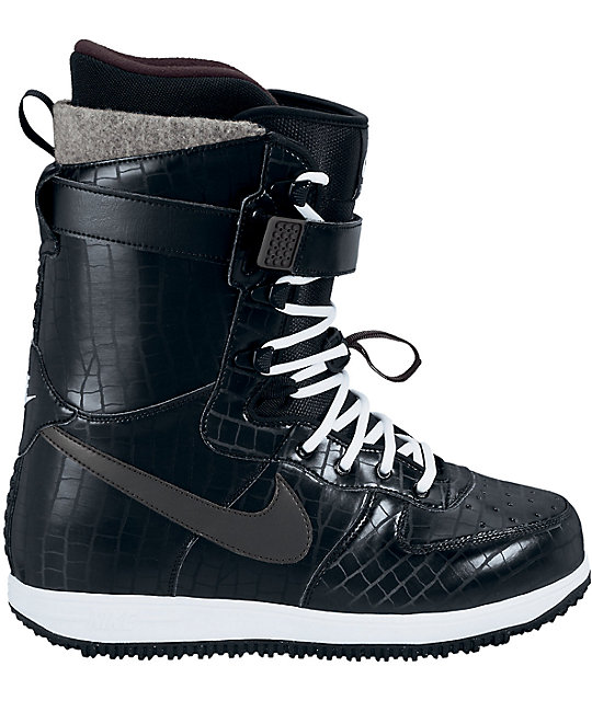 Nike Zoom Force 1 Black & White Snowboard Boots
